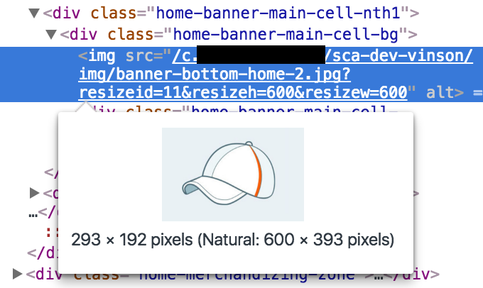 """An image inspected in a browser's developer tools, revealing that the natural size of the image is much bigger than the rendered size"""